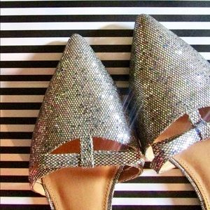 J.crew Glotter D'orsay flats with mini bow